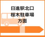 日進駅西口・桜木駐車場方面